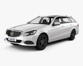 3D model of Mercedes-Benz E-Class estate (W212) 2014