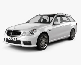 3D model of Mercedes-Benz E-class 63 AMG estate 2010