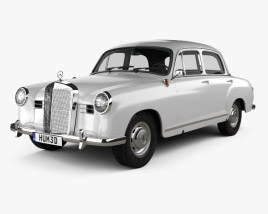 3D model of Mercedes-Benz Ponton 180 W120 1953