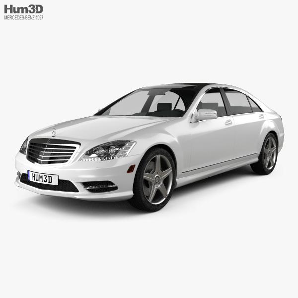 3D model of Mercedes-Benz S-Class (W221) 2012