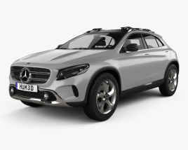 3D model of Mercedes-Benz GLA-class concept 2013