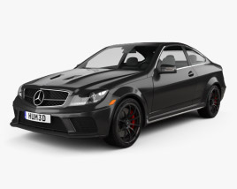3D model of Mercedes-Benz C-Class 63 AMG Coupe Black Series 2012
