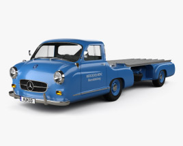 3D model of Mercedes-Benz Blue Wonder Renntransporter 1954