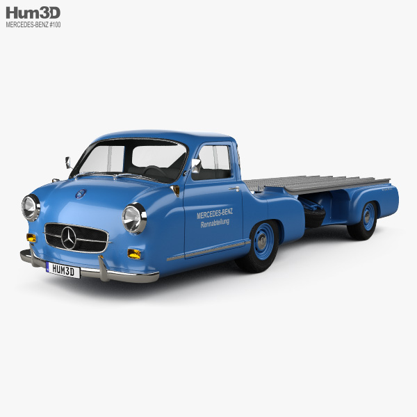 Mercedes-Benz Blue Wonder Renntransporter 1954 3D model
