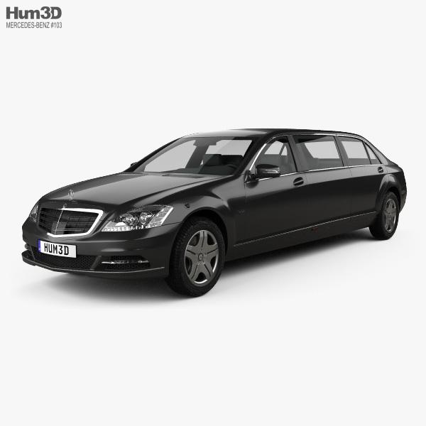 3D model of Mercedes-Benz S-Class (W221) Pullman 2012