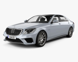 3D model of Mercedes-Benz S-Class 63 AMG (W222) 2014