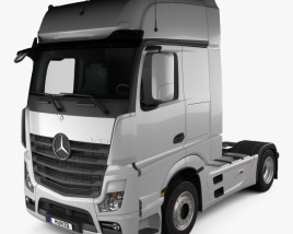 3D model of Mercedes-Benz Actros 1851 Tractor Truck 2013