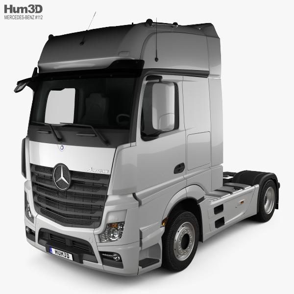 Mercedes-Benz Actros 1851 Tractor Truck 2013 3D model