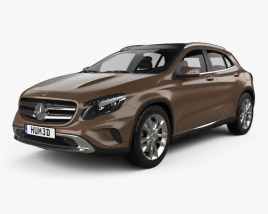 3D model of Mercedes-Benz GLA-class 2014
