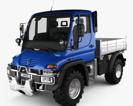 3D model of Mercedes-Benz Unimog U300 2012