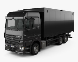 3D model of Mercedes-Benz Actros Box Truck 2002