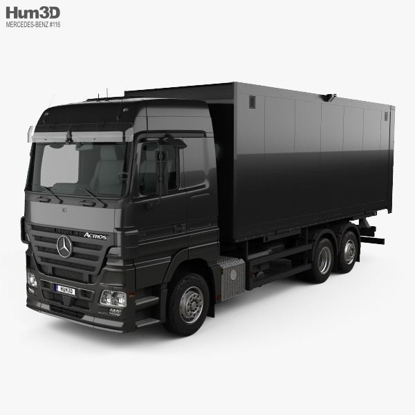 Mercedes-Benz Actros Box Truck 2002 3D model