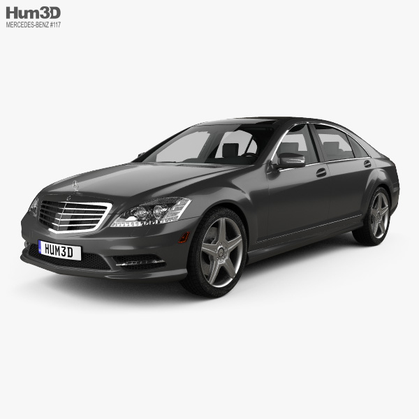 Mercedes-Benz S-Class (W221) with HQ interior 2013 3D model