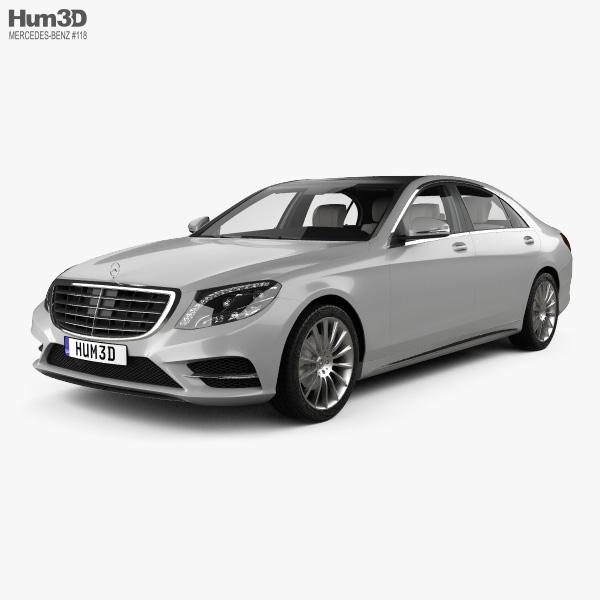Mercedes-Benz S-class (W222) with HQ interior 2014 3D model