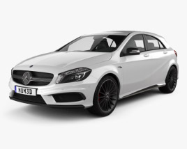3D model of Mercedes-Benz A-Class AMG 2013