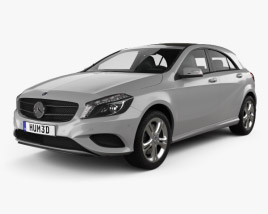 3D model of Mercedes-Benz A-class (W176) Urban Package 2013