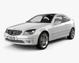 3D model of Mercedes-Benz CLC-Class (CL203) 2008