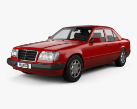 3D model of Mercedes-Benz E-Class sedan 1993