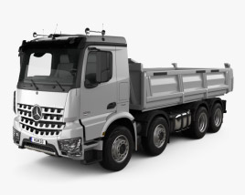 3D model of Mercedes-Benz Arocs Tipper Truck 2013