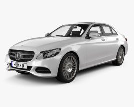 3D model of Mercedes-Benz C-Class (W205) sedan 2014