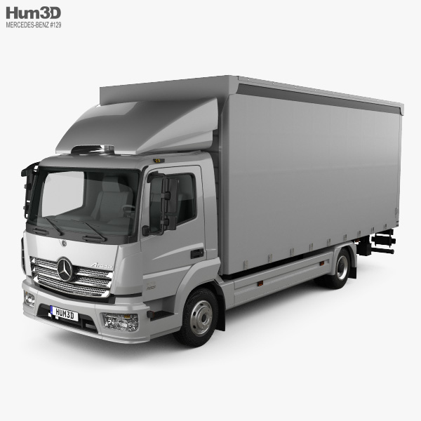 Mercedes-Benz Atego Box Truck 2013 3D model