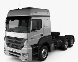 3D model of Mercedes-Benz Axor Tractor Truck 2011