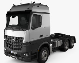 3D model of Mercedes-Benz Arocs Tractor Truck 2013