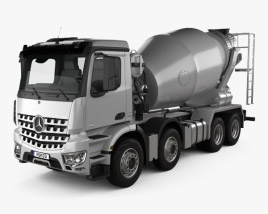 3D model of Mercedes-Benz Arocs Mixer Truck 2013