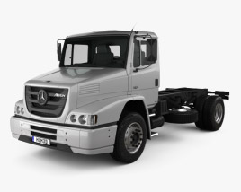 3D model of Mercedes-Benz Atron Chassis Truck 2011