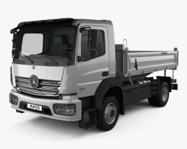 3D model of Mercedes-Benz Atego Tipper Truck 2013