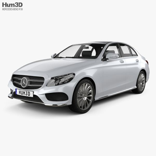 Mercedes-Benz C-class AMG Line (W205) sedan 2014 3D model