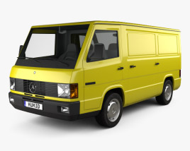 3D model of Mercedes-Benz MB100 Panel Van 1988