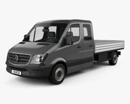 3D model of Mercedes-Benz Sprinter Drop Side Double Cab 2013