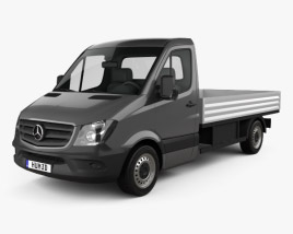 3D model of Mercedes-Benz Sprinter Drop Side Single Cab 2013