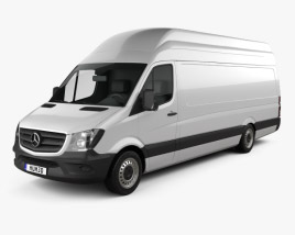 3D model of Mercedes-Benz Sprinter Panel Van ELWB SHR 2013