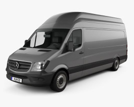 3D model of Mercedes-Benz Sprinter Panel Van LWB SHR 2013