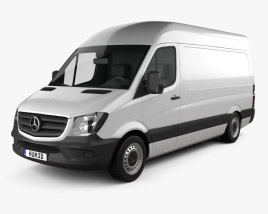 3D model of Mercedes-Benz Sprinter Panel Van SWB HR 2013