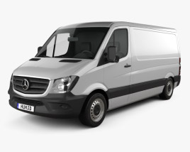 3D model of Mercedes-Benz Sprinter Panel Van SWB SR 2013