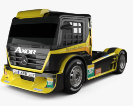 3D model of Mercedes-Benz Axor Formula Truck 2011