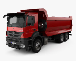 3D model of Mercedes-Benz Axor Tipper Truck 2005