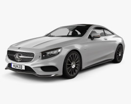 3D model of Mercedes-Benz S-Class (C217) coupe AMG Sports Package 2014