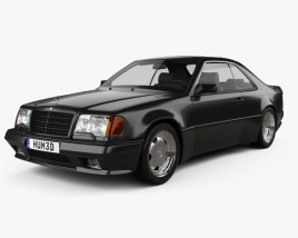 3D model of Mercedes-Benz E-class AMG widebody coupe 1988