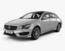 3D model of Mercedes-Benz CLA-Class (C117) Shooting Brake 2014