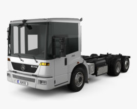 3D model of Mercedes-Benz Econic Chassis Truck 2009