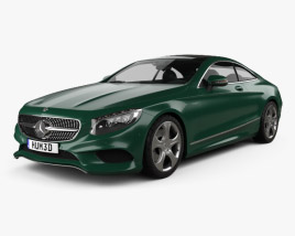 3D model of Mercedes-Benz S-Class (C217) coupe 2014