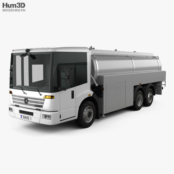 3D model of Mercedes-Benz Econic Tanker Truck 2013
