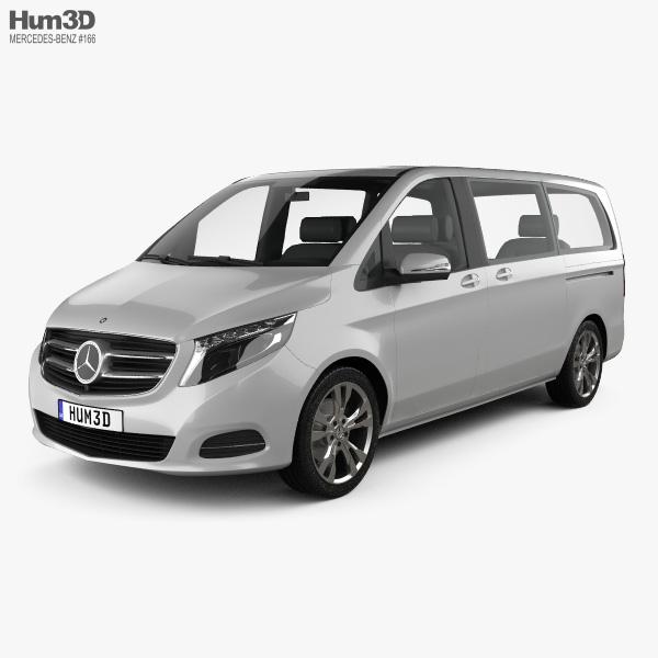 3D model of Mercedes-Benz V-Class 2014