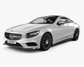 3D model of Mercedes-Benz S-Class AMG Sports Package (C217) coupe with HQ interior 2014