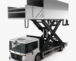 3D model of Mercedes-Benz Econic Airport Lift Platform Truck 2013