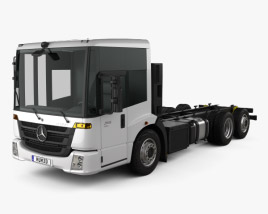 3D model of Mercedes-Benz Econic Chassis Truck 3axle 2013